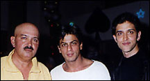 HRITHIK WITH SHARUKH KHAN AND PAPA